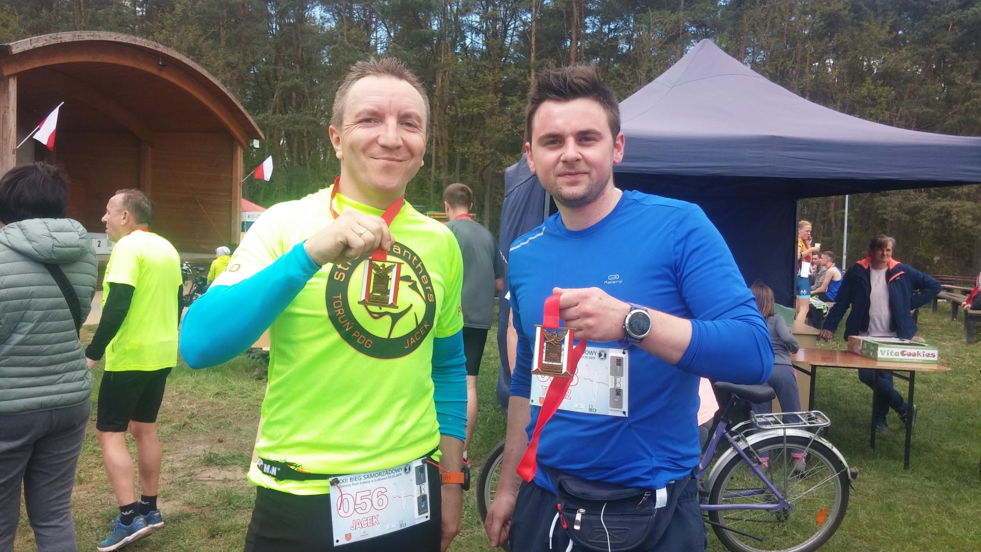 Ja i Tomek z medalami